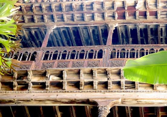 tea wood balcony